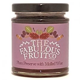 plum preserve with mulled wine